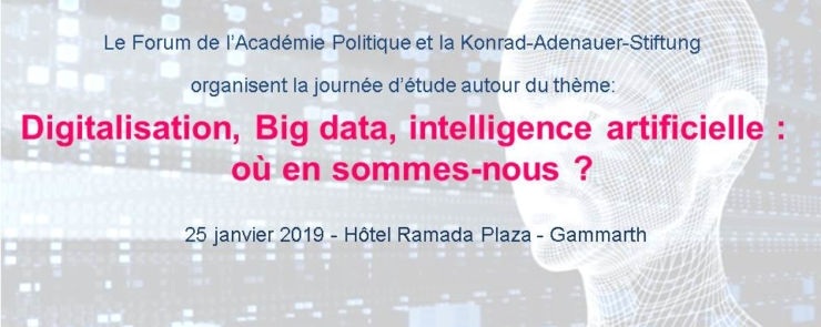 Digitalisation, Big data, intelligence artificielle